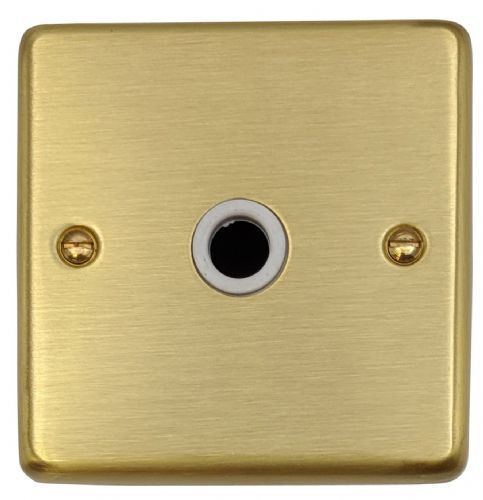 G&H CSB79W Standard Plate Satin Brushed Brass 1 Gang Flex Outlet Plate